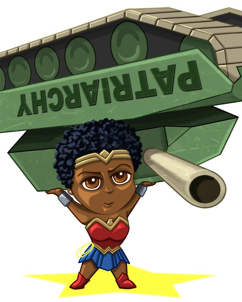 Wonder Woman Tank by dragynsart