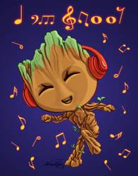 Groot Jammin by dragynsart