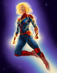 captain marvel by dragynsart