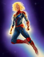 captain marvel by dragynsart
