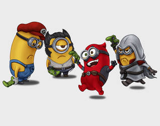 Minion Gamers by dragynsart