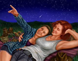 WayHaught Stargazing by dragynsart