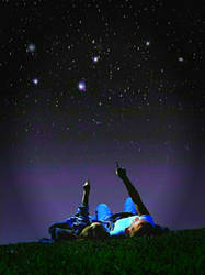 You, me and the stars..