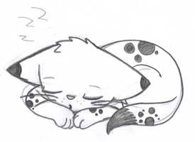 Sleepy kitty by RubyDawnHunter