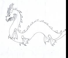 Sea monster by RubyDawnHunter