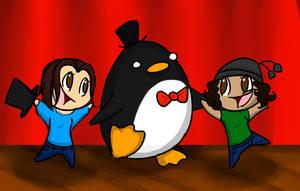 Gentlemen Penguins by RubyDawnHunter