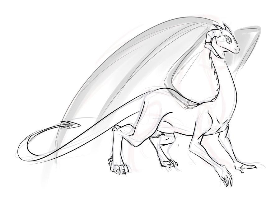 Dragon sketch by RubyDawnHunter