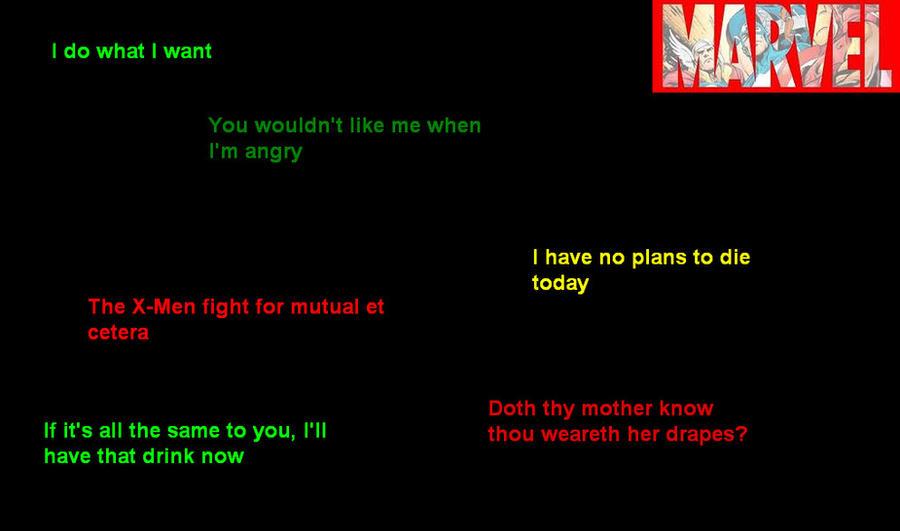 Famous Marvel quotes by 13Vampirella on DeviantArt