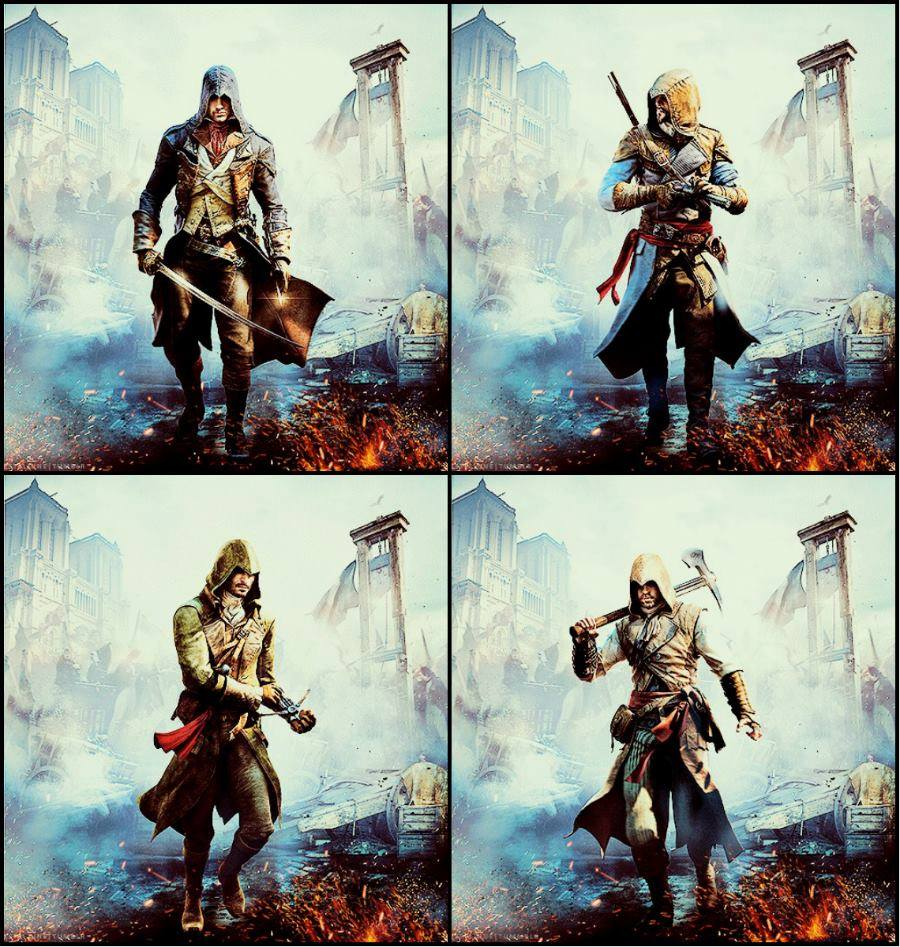 Assassin S Creed Unity Assassins Banner Poster By Matrixunlimited