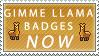 Llama Badges by Faroreswind159