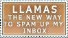 Llama Spam