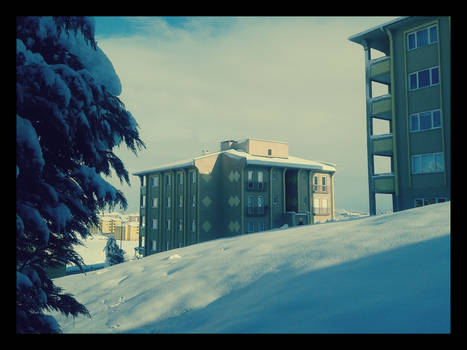 Side Building and Snow