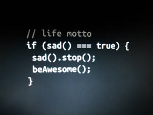 Sad Code Wallpaper