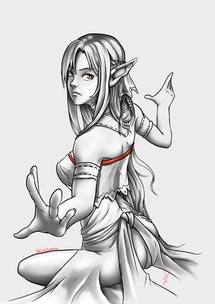Fanart Asuna's Titania Avata Without Wings by YahyaDiatmika