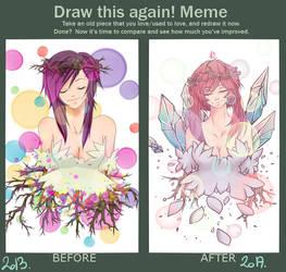Draw this Again - Flower Princess Hikari by Hikari-Kashay
