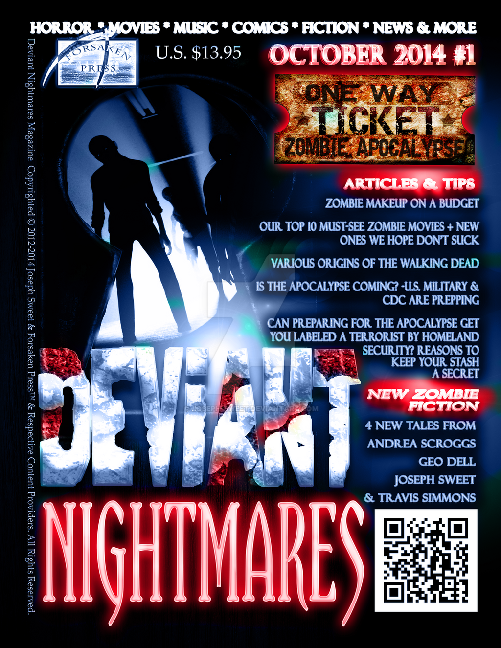 Deviant Nightmares # 1 Cover 001 by joseph-sweet