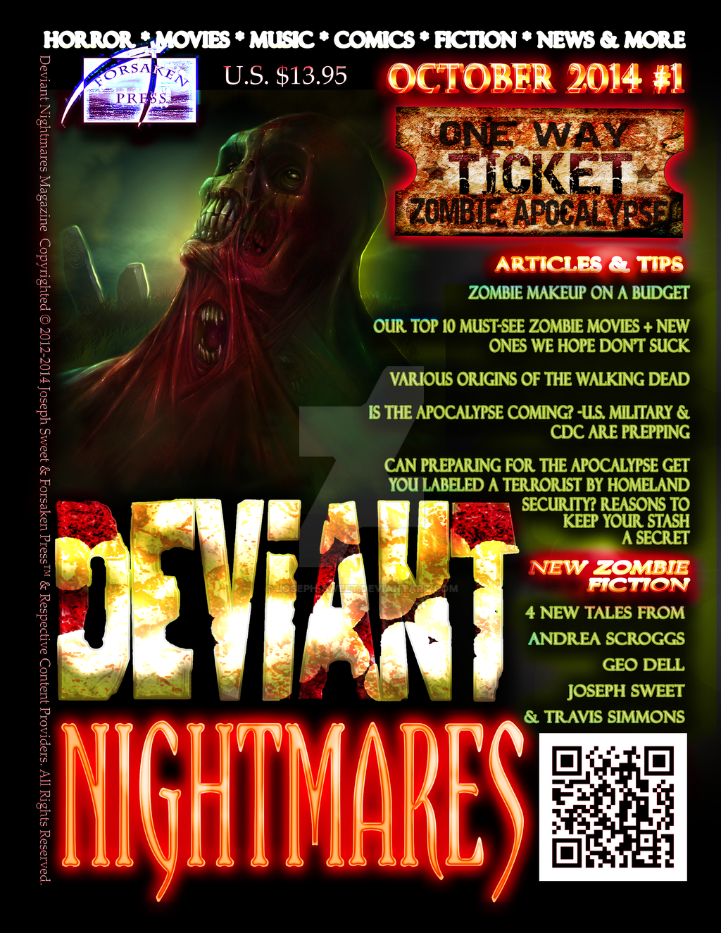 Deviant Nightmares Magazine #1 Cover 002 by joseph-sweet