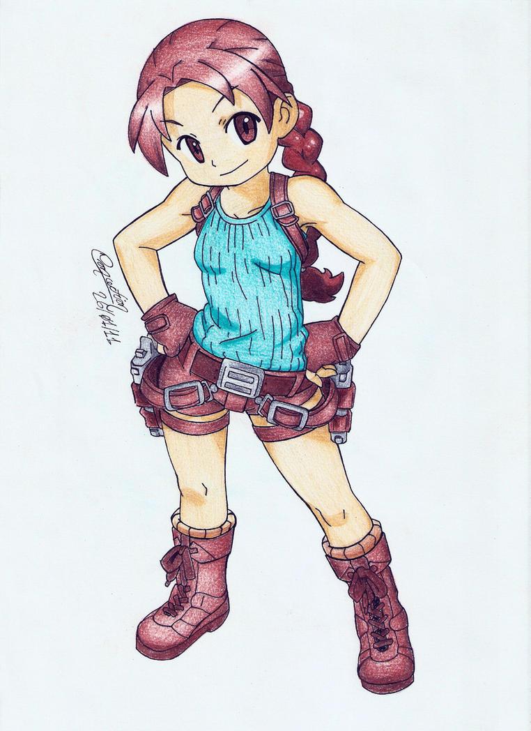 Lara Croft Kid by yuricoke