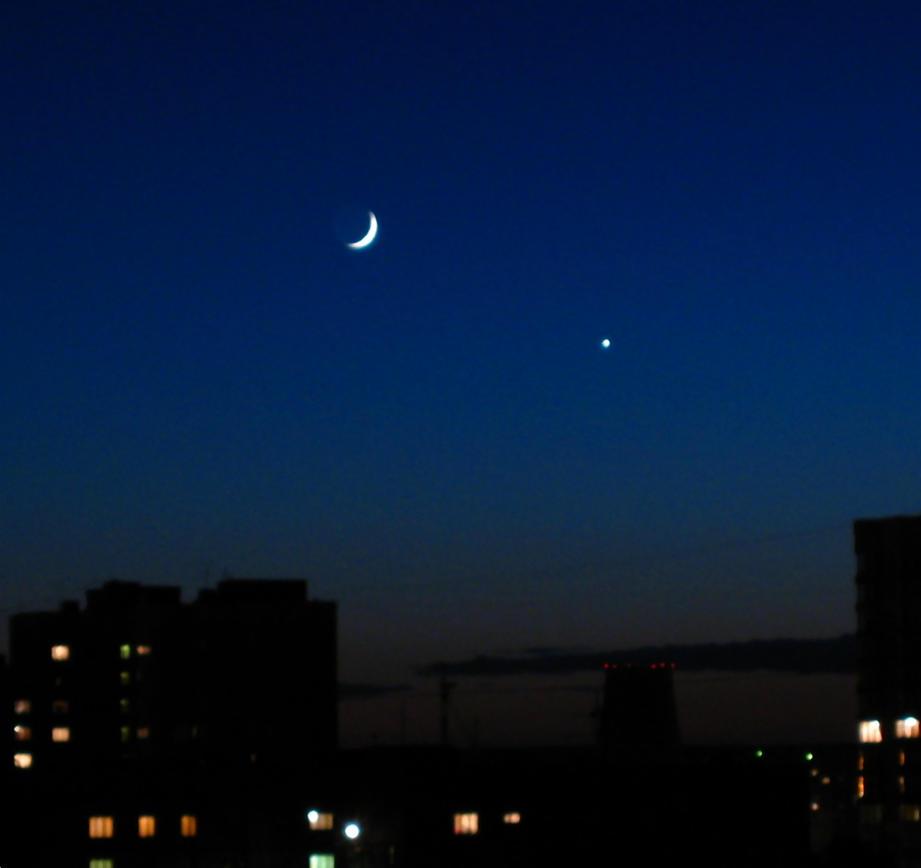 Moon+Venus by Matonvy