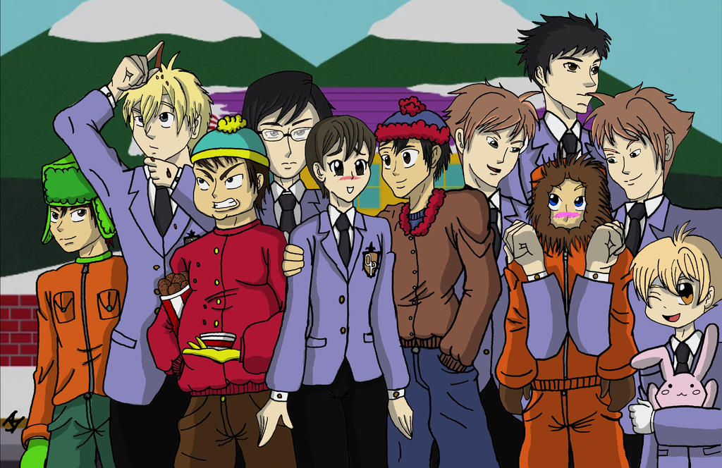 Ouran High School Host Club Meets South Park F By