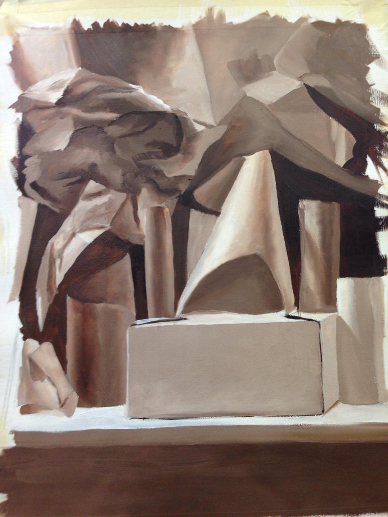 Still Life Study in Burnt Umber by Becca231