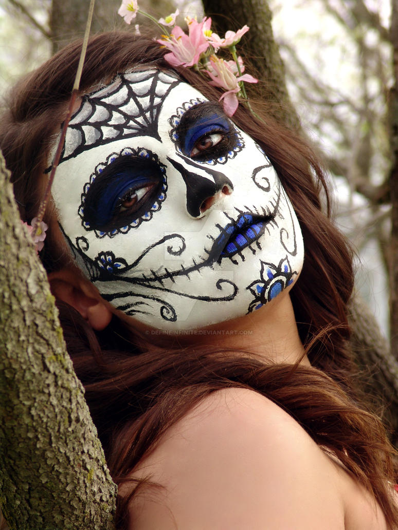 Day of the dead half face paint designs for 1 day paint
