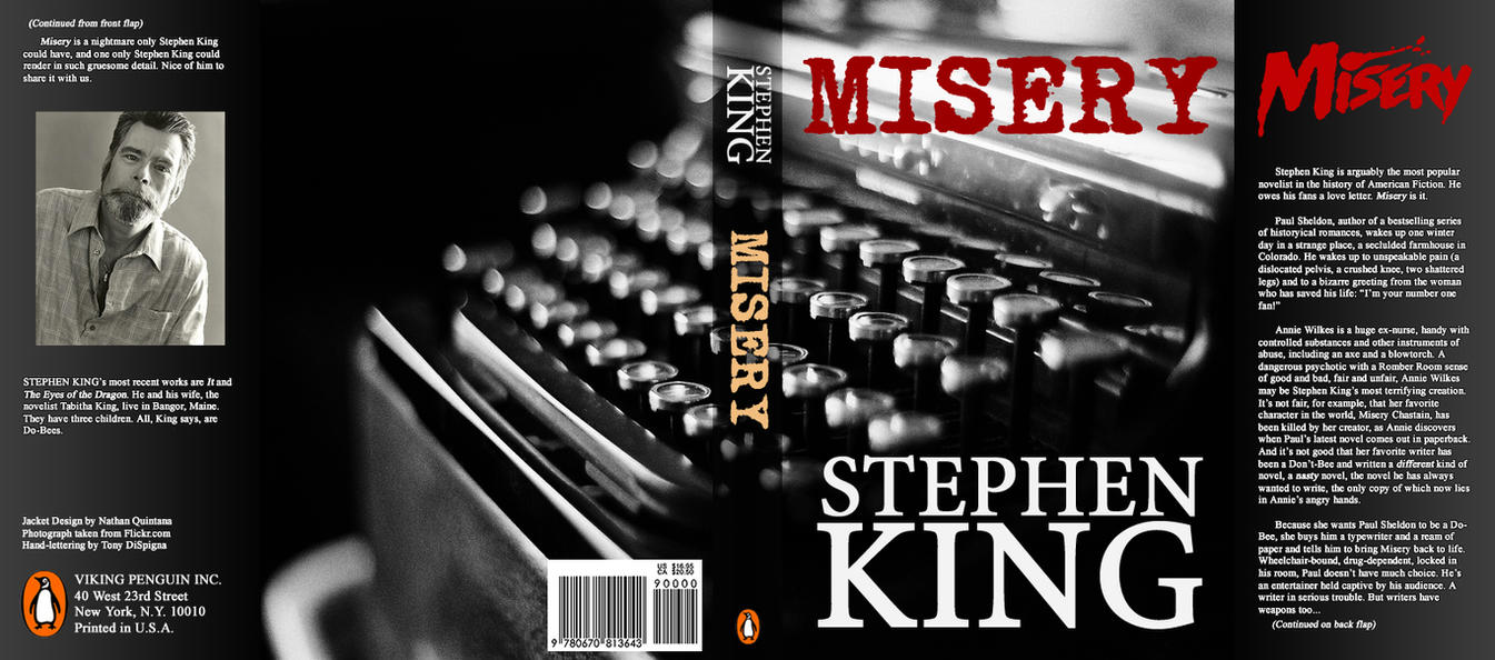 Stephen King Misery Book Cover