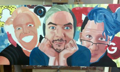 Markiplier, JackSepticEye and PewDiePie FanArt WIP by ChromaSpark