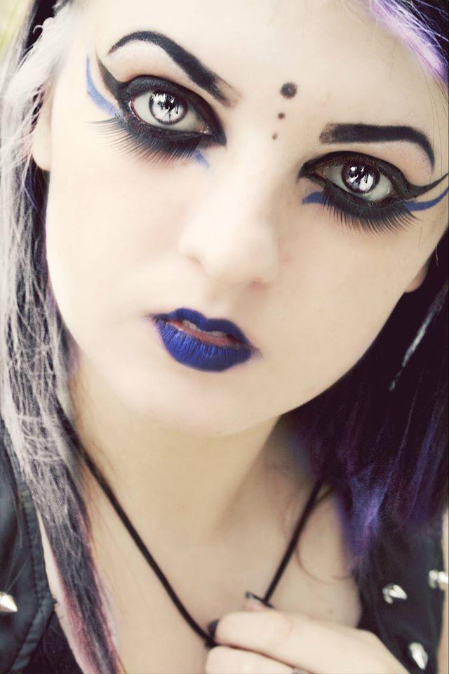 Deathrock/Gothic makeup by Gothchick1995 on DeviantArt
