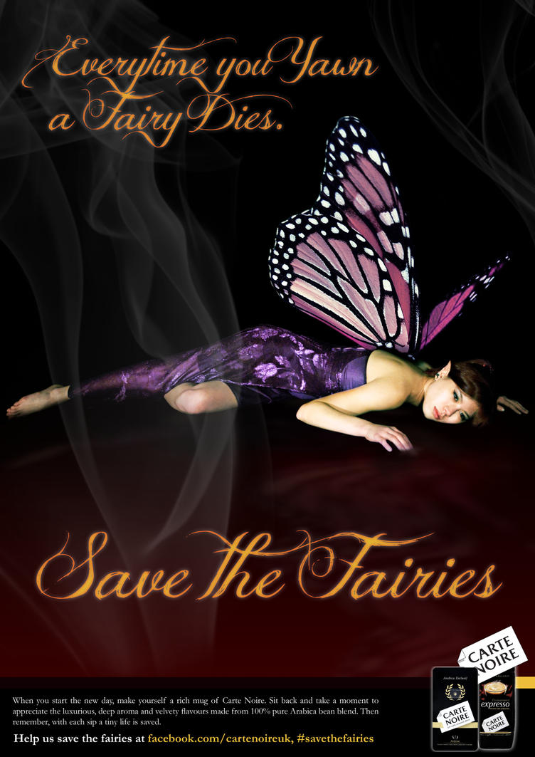 Save the Fairies - Carte Noire by Matt-Walton-Design