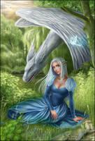 Aliele and the Furry Dragon by daekazu