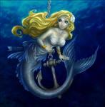 Blue Girl + Silver Anchor