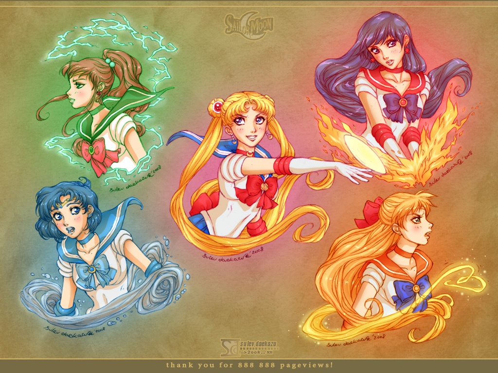 Sailor Moon: Gold 5 by daekazu