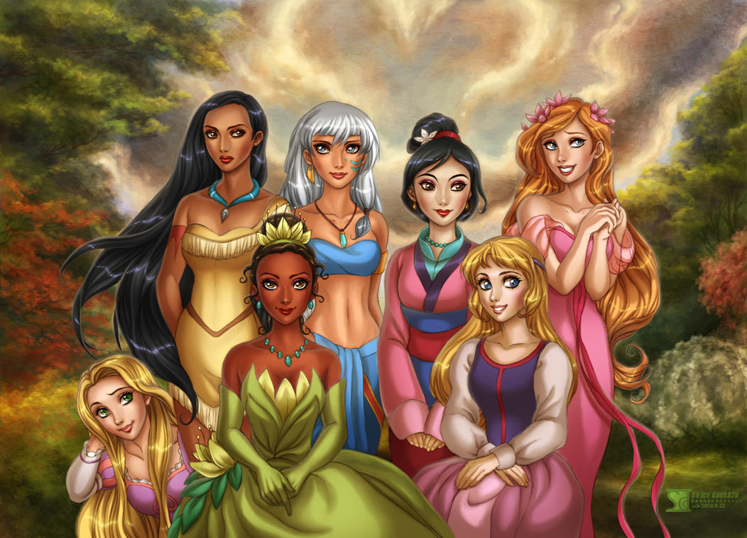 Disney's Princesses 2 by daekazu
