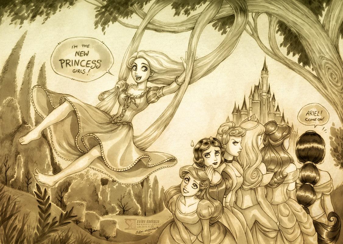 Rapunzel + Disney's Princesses by daekazu