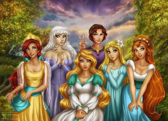 Non-Disney's Beauties by daekazu