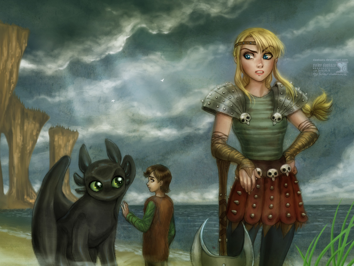 How To Train Your Dragon Hiccup Astrid HTTYD By Daekazu