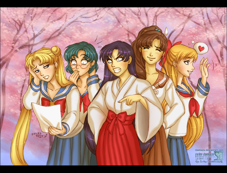 Sailor Moon: School Girls by daekazu