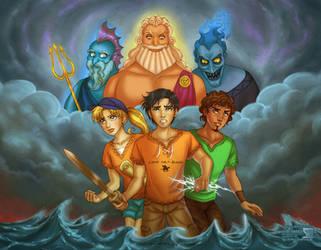 Percy Jackson + Disney's Gods by daekazu