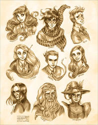 Harry Potter: Portraits by daekazu