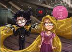 Edward Scissorhands + Rapunzel