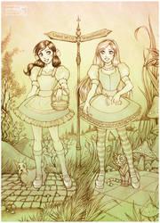 Alice and Dorothy by daekazu
