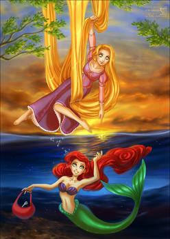 Rapunzel + Ariel