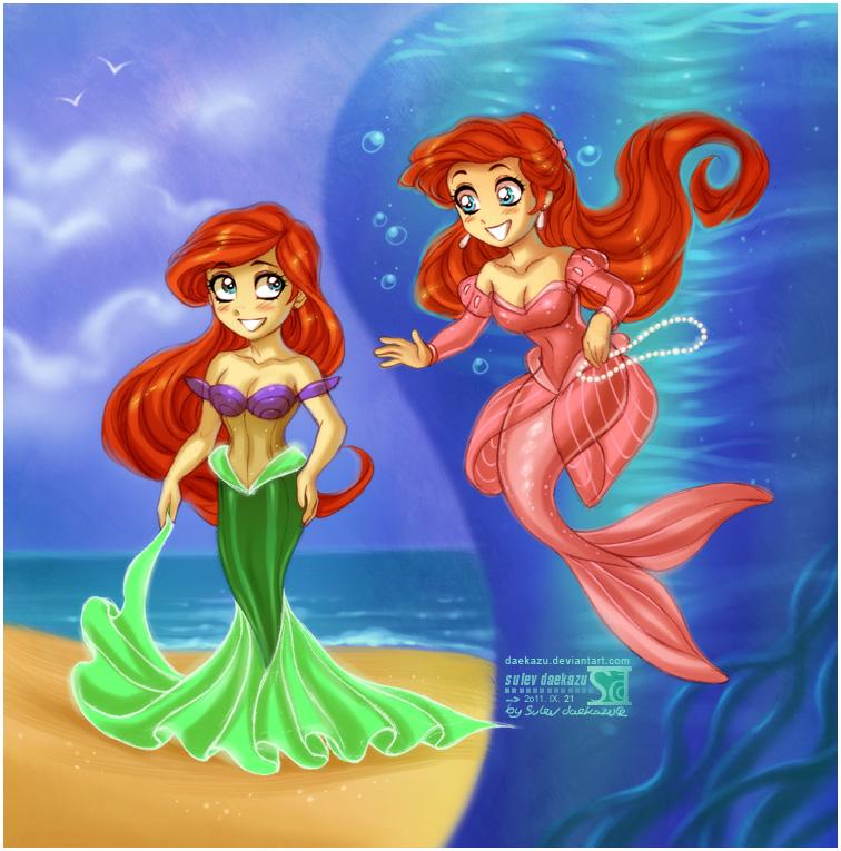 Ariel's Dresses by daekazu