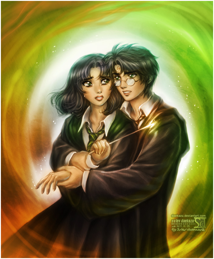 Maldita ( Draco Malfoy y Tu ) He Vuelto :) - Página 11 Harry_and_pansy_by_daekazu-d4apr8n