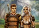 Alistair and Lyna by daekazu