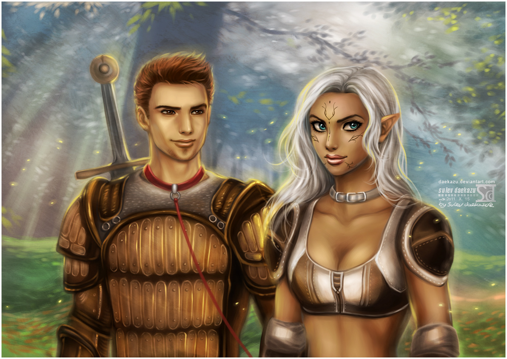 Alistair and Lyna by daekazu
