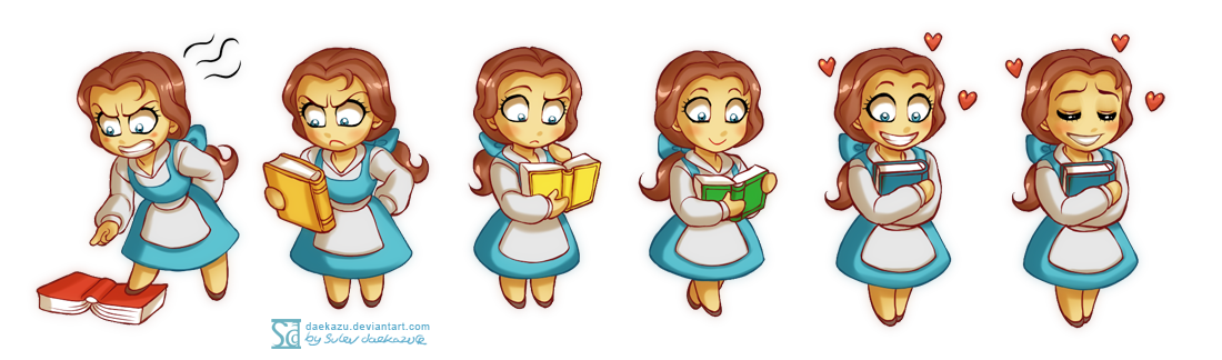 6 faces of Belle by daekazu