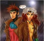 X-men: Gambit + Rogue