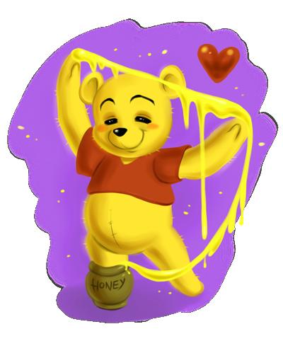 Winnie the Pooh: Honey Art by daekazu